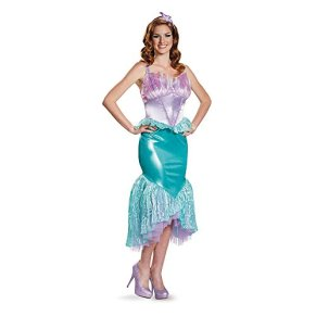 Disguise Deluxe Womens Ariel Fancy Dress Costume Small