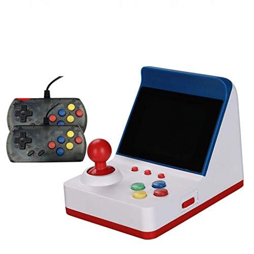 ARROHA A6 Retro Miniature Arcade Game Console,3.0 Inch 64 Bit Classic Handheld Video Games with 2 Controller Joystick Best Gift (Blue, 3.0 Inch Screen)