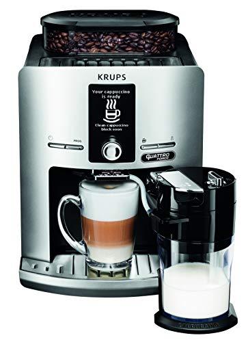Krups Expresso Broyeur à Café Grains Espresseria Latt Espress Silver Cafetière Machine à Café Expresso Cappuccino Silver YY4201FD