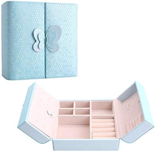 Caja de joyería for las mujeres, las niñas Joyero de viaje Pequeño impresión de la mariposa joyería Organizador exhiben almacenaje de casos for los anillos de joyería de los pendientes de cumpleaños d