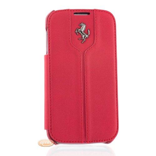 Ferrari Collezione Montecarlo Custodia per Galaxy S4, Rosso