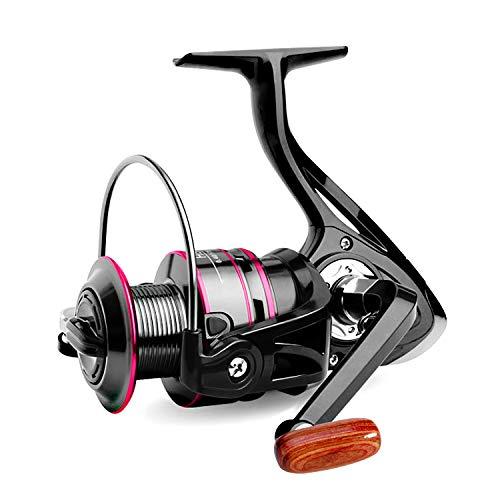 FishOaky Spinning Mulinello Pesca,3000H Sinistra/Destra Intercambiabile Manico Pieghevole Mulinelli Spinning Reel, Acqua Salata & Acqua Dolce, Max 3 kg
