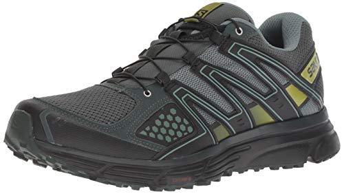 Salomon X-Mission 3, Zapatillas de Trail Running para Hombre, Verde (Urban Chic/Black/Guacamole), 40 EU