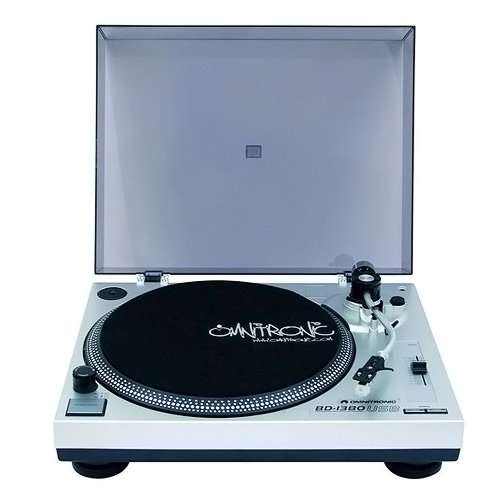 Omnitronic BD-10603043-1380, Giradischi USB, argentato