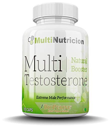Multi Testosterone | Testosterone naturale | Bioperine fieno greco Tribulus D-aspartico citrullina acido Ashwagandha | (180)