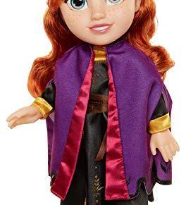 Disney muñeca Princesa Anna con Vestido, Capa y Botas de Viaje de Frozen II, Toddler 35 cm.