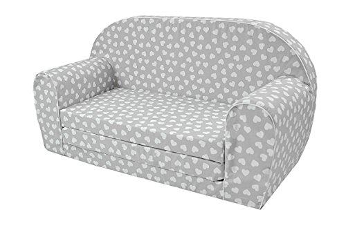 MoMika bambini Divano | I bambini Divano letto | Bambino pieghevole 2-in-1 divano e letto | 0-4 anni (Hearts)