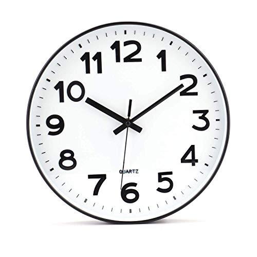 Tebery - Orologio da parete moderno, non ticchetta, fai da te, per soggiorno, cucina, ufficio (30,5...