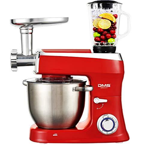 DMS Robot da cucina 3 in 1, impastatrice 7,5 litri, ciotola in acciaio inox, paraspruzzi, mixer,...