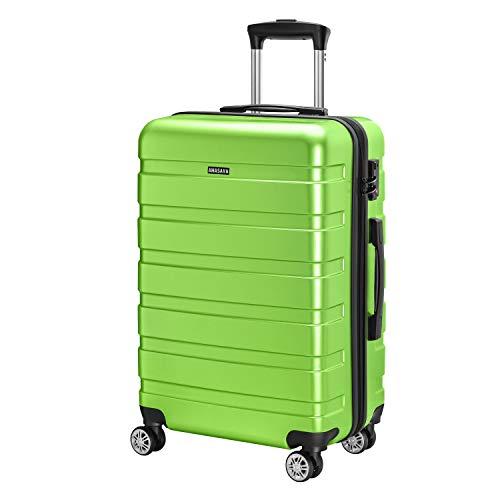 Amasava valigie rigide ABS+PC hard shell super leggero da viaggio Carry On trolley 8 ruote...