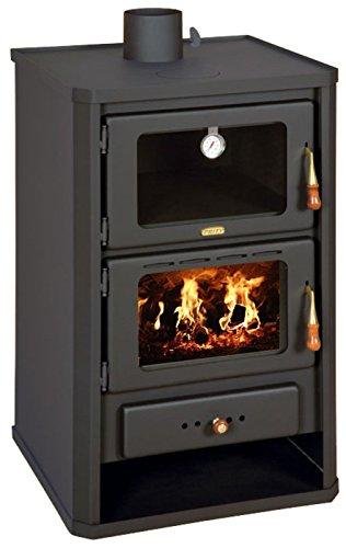 Prity FG - Stufa a legna con forno. Fornello a legna, caminetto, combustibile solido, 14 kW