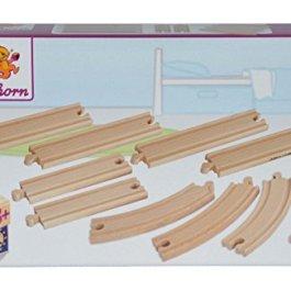 Simba Trenino Legno Track Set 10 Pezzi , Modelli/Colori Assortiti, 1 Pezzo
