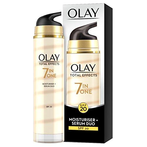 Olay - Total effects, 7 - in - 1 hidratante y serum duo, factor de protección solar 20-40 ml