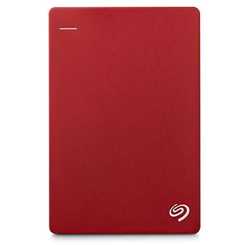 Seagate 2TB Backup Plus Slim (Red) USB 3.0 External Hard Drive for PC/Mac with 2 Months Free Adobe Photography Plan