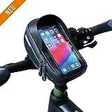 Velmia Lenkertasche Fahrrad [2020er Version] Handyhalterung Mit/Ohne Touch ID für Smartphones