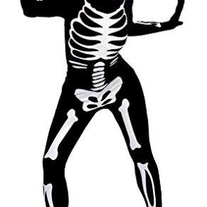 Haunted House - Disfraz Walking Bones, para adultos, color negro (Rubie's S8220)