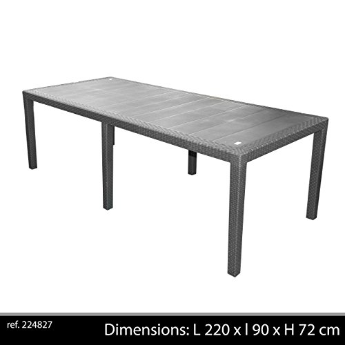 Ipae-Progarden S.P.A. IPAE-PROGARDEN Tavolo da Giardino Allungabile in Polipropilene - Modello Queen