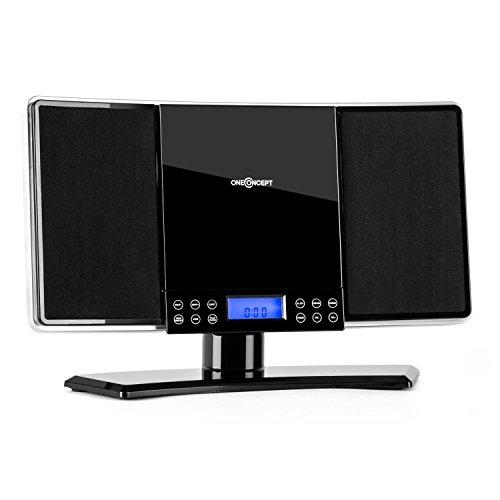 oneConcept V14 • mini impianto stereo compatto • lettore CD MP3 • radio VHF • 20 stazioni...
