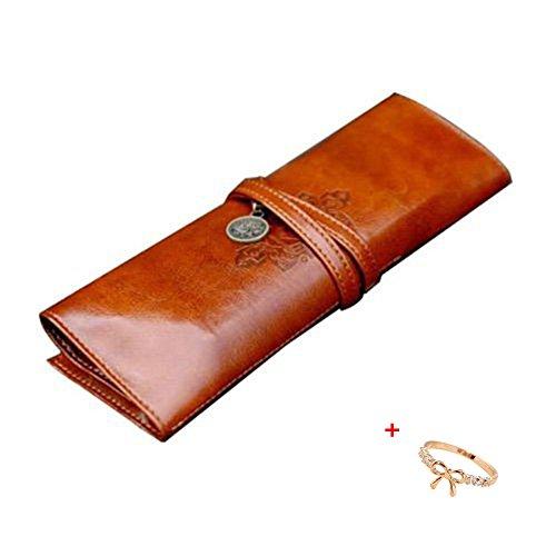 Malloom stile vintage astuccio, sacchetto della matita, portapenne, caso di trucco, borsa- cosmetica...