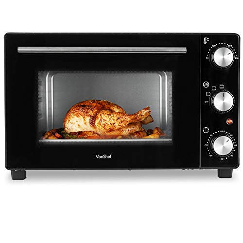 VonShef Mini Forno Elettrico di 35L Potenza 1000W – Max. 230°C, Comandi per grigliare, cucinare e...