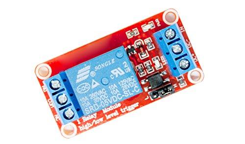 1canali Modulo relè Relay Red 5V per Arduino Raspberry Pi PIC AVR ARM MCU