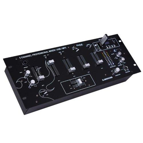 """Ibiza DJM90USB-BT Mesa de mezclas 5 canales USB SD BT 19"""""""