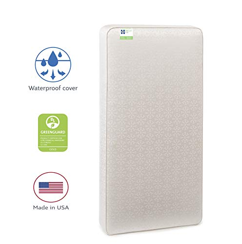 """Sealy Flex Cool 2-Stage Airy Dual Firmness Infant/Toddler Crib Mattress, Waterproof, Breathable Soft Cotton Cover, Firmer Infant Side & Softer Toddler Side, Easy to Clean, 51.7""""x27.3"""""""