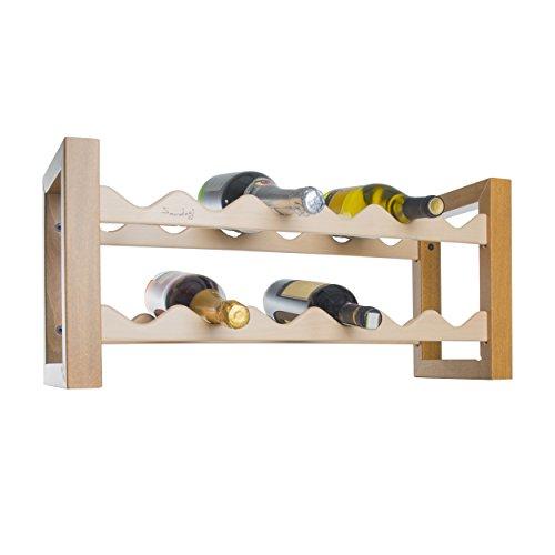 Porta bottiglie Portabottiglie Cantinetta vino in legno 12 posti noce