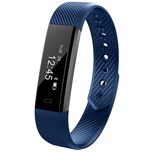 Fragrant Bluetooth intelligente Bracciale Sport Wireless Wristband Tracker Guarda fitness contapassi...