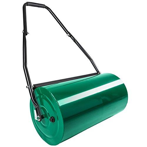 TecTake Rodillo de césped de metal 60 cm | ancho de rodillo: 60 cm | rodillo Ø: 31 cm | volumen de llenado (rodillo): aprox. 50 L