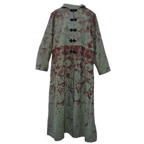 El celibato 30006494.994L Hombres de Halloween chaqueta de gamuza sintética, la pantorrilla, talla L, color verde/rojo/negro