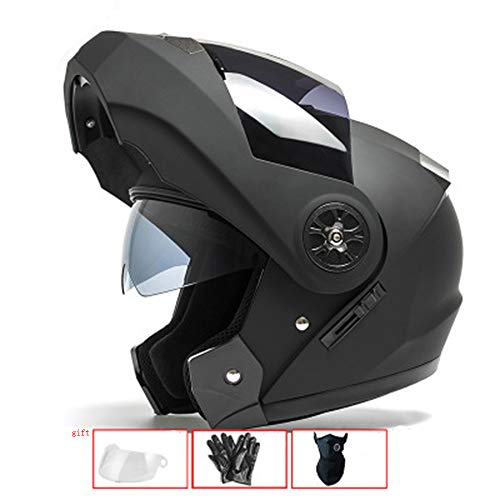 WRDH Casco Moto,Casco Integrale da Corsa Motocross Caschi Moto Quad Scooter Sport Mountain Bike...