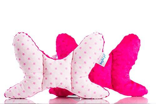 BAJBI® | Almohada mariposa para bebé | cabeza de apoyo | Algodón / Minky | Antialérgico | Hecho en la UE | Muchos colores