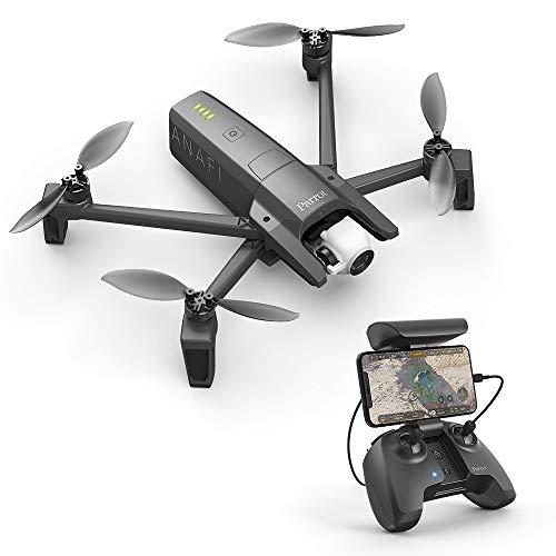Parrot Anafi Base Drone con Videocamera HDR 4K con Gimbal con Inclinazione a 180°, Nero