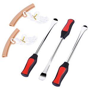 Reifenheber Werkzeug Löffel Set mit 3 Reifenheber Werkzeug Löffel und 2 Felgenschutz Werkzeug Kit für Motorradreifen Eisenwechsel 16