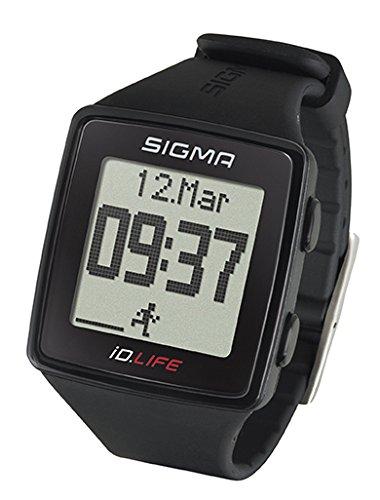 Sigma Sport Pulsuhr iD.LIFE black, Activity Tracker, Handgelenk-Pulsmessung, Schwarz