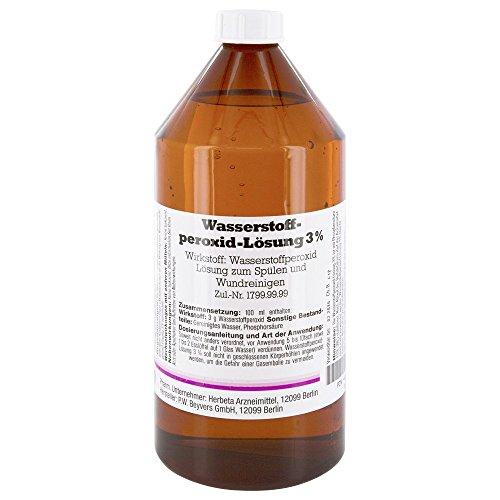 Herbeta Solution de peroxyde d'hydrogène à 3 % 1 000 ml 21