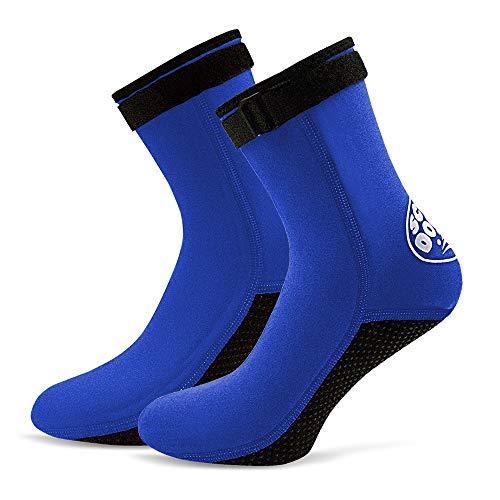 Lixada 3MM Calcetines de Buceo de Neopreno Snorkel Buceo Botas de Surf para Hombres Mujeres