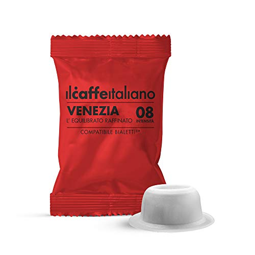 FRHOME - Bialetti 100 Capsule compatibili - Il Caffè Italiano - Miscela Venezia Intensità 8