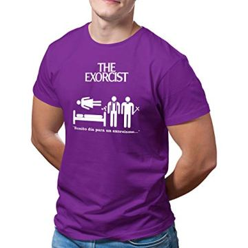 DibuNaif Camiseta Hombre - Unisex película El Exorcista, William Friedkin 4