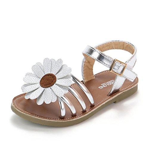 853978cad46 OHQ Filles Enfants Fleur D éTé Sandales Rome Chaussures Princesse ...