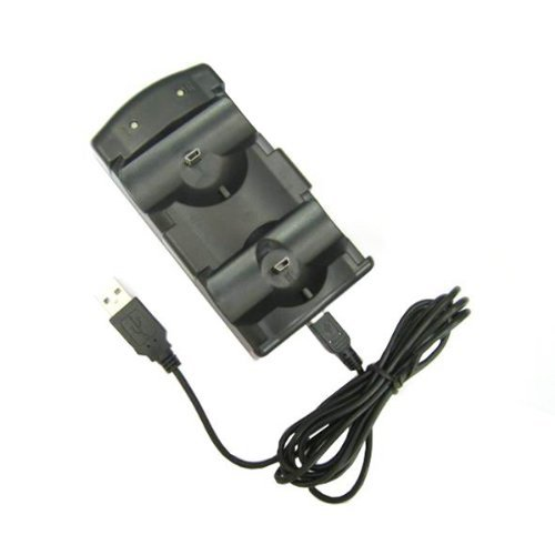 Microware 2 In 1 Charger Dock Station Compatible For Sony PS3 Wireless Bluetooth & Ps Move Controller