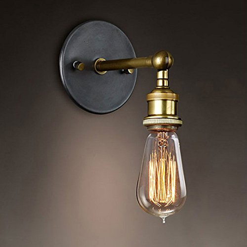 Cozyle Lampada da parete in rame Industrial Metal Vintage senza paralume rame