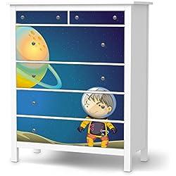 Möbelfolie für IKEA Hemnes Kommode 6 Schubladen | Möbeltattoo Klebefolie Sticker Tapete Möbel renovieren | Wohnen & Dekorieren Esszimmer-Dekoration Wohnaccesoires | Design Motiv Young Explorer