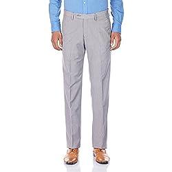 Auburn Hill Men's Formal Trousers (8907002776228_255358961_34_Light Grey)