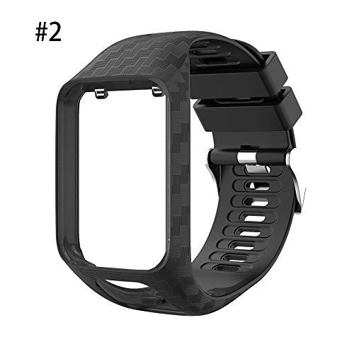 BEAUTOP Cinturino per Orologio Tomtom Runner 2 / Runner 3 Spark 3, Cinturino per Cinturino in Silicone di Ricambio per Orologi Sportivi