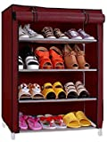 Pindia Shoe cabinet, 4-5 Layer Maroon Shoe Rack Organizer