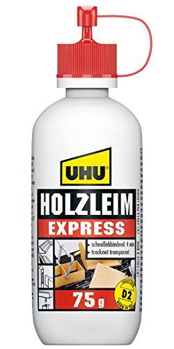 UHU 48580 Holzleim Express, Flasche mit 75 g