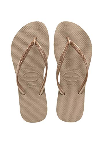Havaianas Slim Infradito Unisex – Adulto, Marrone (Rose Gold 3581), 39/40 EU (37/38 Brazilian)