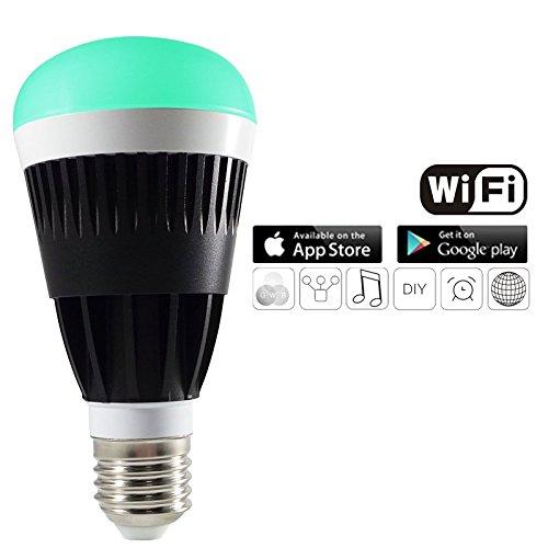 Kourion Magic Wifi Led light bulb, wifi enabled & smartphone controlled Multi-coloured LED bulb
